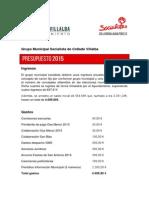 Presupuesto 2015 y Contabilidad 2014 GMS