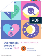 Información Día mundial contra el cáncer 2015