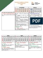Calendario Academico UFSCAR 2015