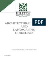 2014 08 11 Hilltop - Architectual Guidelines