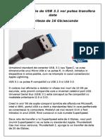 Noua Generatie de USB 3.1