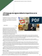 El Diario Vasco 28012015 SORDOS «El lenguaje de signos debería impartirse en la escuela» . SALE SANIDAD.pdf