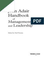 Chapter 6 - Leadership and Team Building (Adair J, 2004)