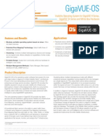 Network Visibility Operating System Software - GigaVUE-OS Product Brief