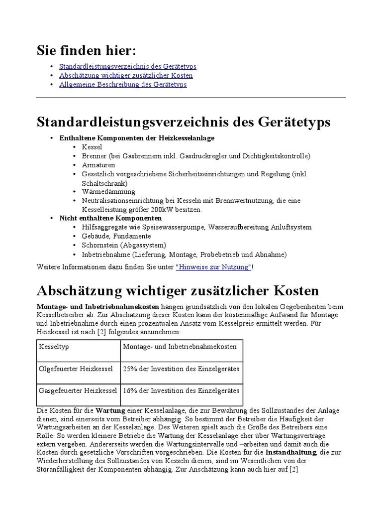 Atemberaubend Arten Von Kesselanlagen Ideen - Die Besten ...