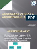 Abordarea Clinica a Abdomenului Acut