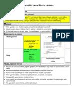 business document notes agenda 12