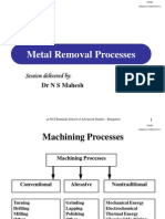 Materials Removal Processes