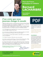 Profession de Foi Bernard LACHAMBRE Legislative2015