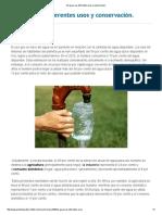 El Agua_ Sus Diferentes Usos y Conservación