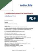 Frank_Capitalismo y Subdesarrollo en América Latina