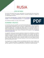 Resumen Rusia