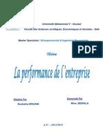 contrôle de gestion et performance