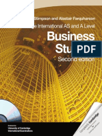 Cambridge International as and a Level Business Studies Coursebook With CD Rom Cambridge Educatio Samples