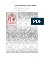 Materialismo Como Soberania Georges Bataille Por Nicolas Gonzalez Varela