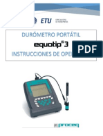 Instrucciones de Operacion Durometro Portatil Equotip