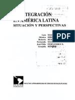 La Integración en América Latina. Situación y Perspectivas