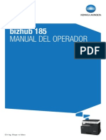 Bizhub-185 Manual de Usuario