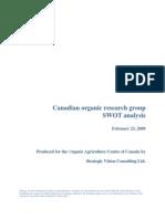 Canadian Organic SWOT 2009