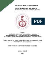 Analisis Estocástico Arima Para El Modelamiento Demanda en El Sector Residencial de Lima Sur