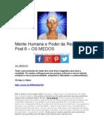 Mente Humana e Poder de Realização Post 8 – OS MEDOS