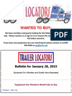 Wanted to Buy Bulletin January 28, 2015