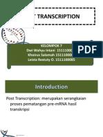 Post Transcription