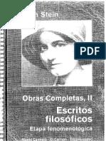 Edith Stein - Opera Omnia 2