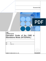 Operation Guide of the CME in Standalone Mode (INTERNAL)