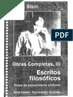 Edith Stein - Opera Omnia 3