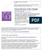 inclusion in phys ed teacher candidates
