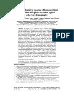 In vivovolumetric imaging of human retinal