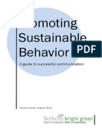 Promoting Sustainable Behavior - A Guide to Successful Communication