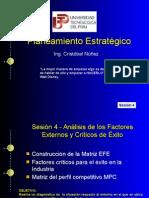Estratégico - Análisis de factores externos y críticos de exito