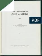 De Westfriese Munt / [W.F.G. Wiese]