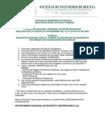 Requisitos Inscripción SIB (Bolivia)