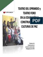 Teatro Del Oprimido y Teatro Foro en Edupaz