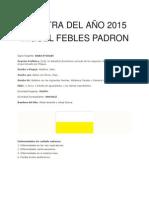 La Letra Del Año 2015 Miguel Febles Padron
