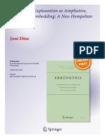 Scientific w-Explanation as Ampliative, Specialized Embedding