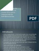 A Consolidação Da Psicologia Social Como Disciplina Independente2