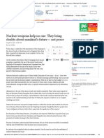 nuclear weapons help no one  they bring doubts about mankinds future -- not peace   pittsburgh post-gazette pdf