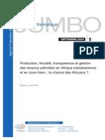 Revenus Pétroliers en Afrique Subsaharienne