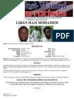Liban Haji Mohamed most wanted poster