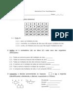 5º Ano- Multiplicação e Divisão. Propriedades - Ficha de Trabalho