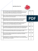 Basketball Wales Rules Test - 2014-15