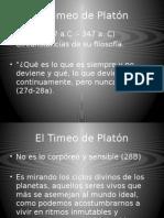 Hist Pensamiento Científico El Timeo de Platón