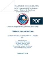 Caso Colcacocha versus Lampita S.A.