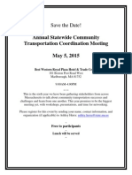 Annual Transportation Coordination Meeting May 2015