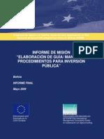 Sistema Nacional de Inversiones 2009