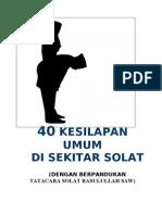 Buku 40 Kesilapan Umum SOLAT
